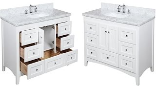 Abbey 48 Inch Carrara White Bathroom Vanity With Italian Carrara Marble Top & Shaker Style Cabinet