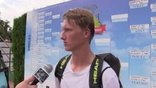 Zdeněk Kolář po výhře ve čtvrtfinále turnaje Futures v Pardubicích