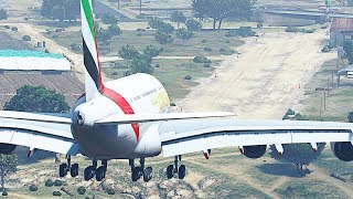 GTA 5 - HUGE Planes vs Shortest Dirt Runway (HD)