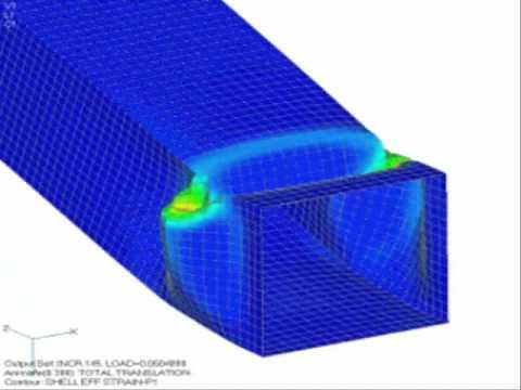 Nastran Finite Element Analysis Software Engineering Simulation Demo Video