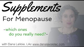 The 3 most Important Supplements For Menopause