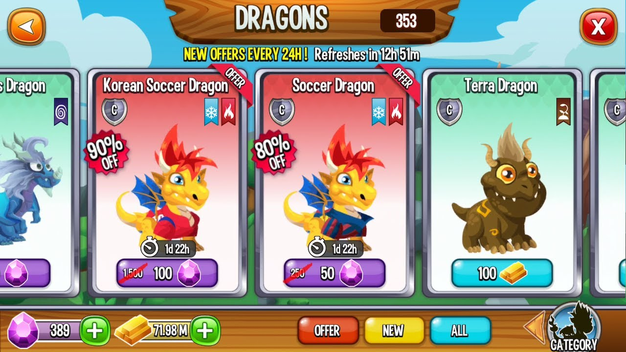 how to get a soccer dragon on dragon city