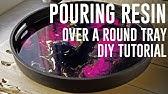Decorative tray Resin pour DIY + TUTORIAL