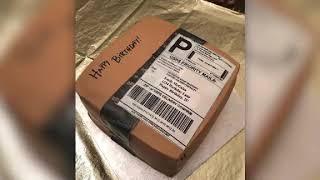 Husband Surprises Wife With Amazon Box Birthday Cake