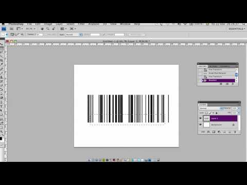 How to make BARCODES tutorial in Photoshop.