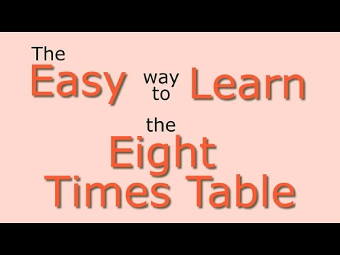 8 Times Table Easy Way To Learn The 8 Times Table Youtube