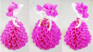 How to Decorate a Doll Using Foam Sheets/DIY Doll Decorations/Make Decorative Dolls/Foam Sheets Uses