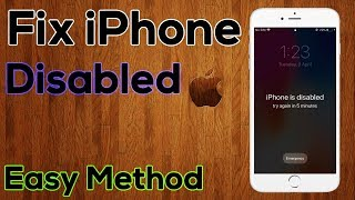 How To Fix iPhone is Disabled Connect to iTunes | Simple and Easy Way