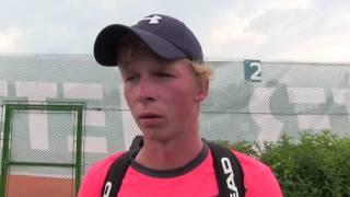 Antonín Bolardt po výhře v 1. kole na turnaji Futures v Ústí n. O.
