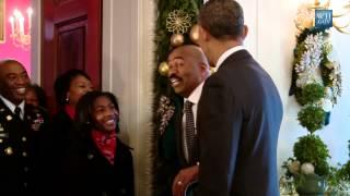 Obama, Steve Harvey, Surprise White House Visitors
