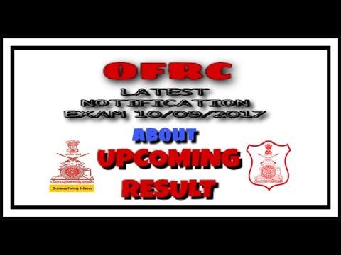 ofrc result notification 10/09/2017