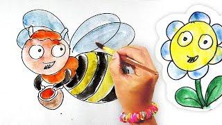Раскраска для детей / Рисунки Ромашки / Рисуем НАСЕКОМЫХ