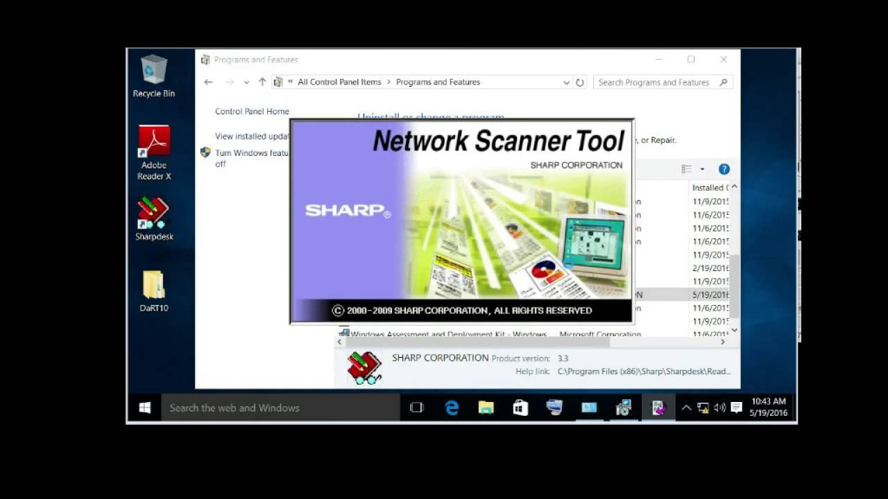 Network Scanner Tool - Sharp - Experts Exchange