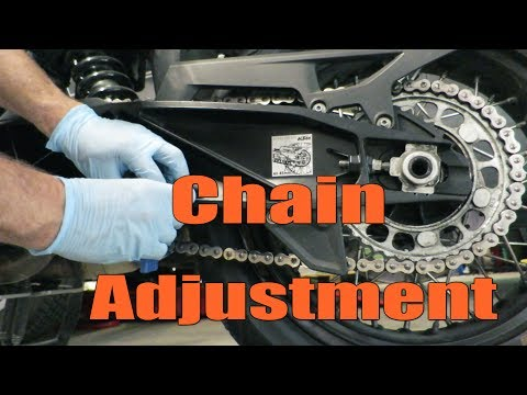 How to Inspect & Adjust your Motorcycle Chain | KTM 1290 1290 Super Adventure