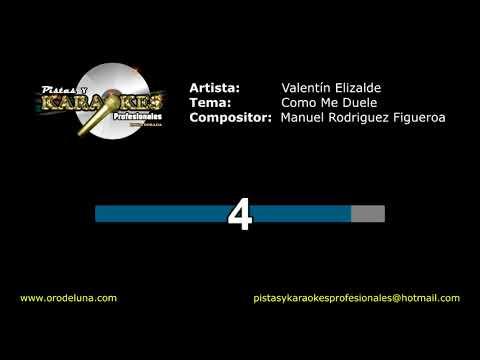 Valentin Elizalde COMO ME DUELE Karaoke
