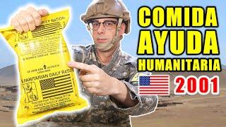 Probando COMIDA HUMANITARIA de Operación Libertad Duradera RACIÓN 24 Horas   Curiosidades con Mike