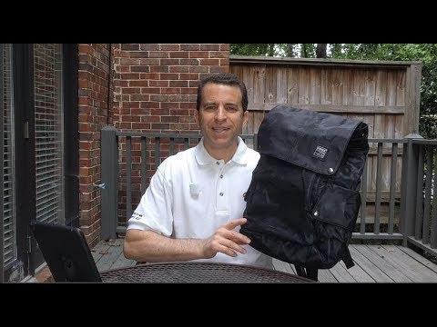 KAKA Water Resistant Black Camo Laptop Backpack
