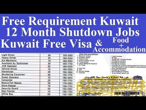 Kuwait 12 Month Shutdown Jobs l Shutdown Jobs in Kuwait l Jobs in