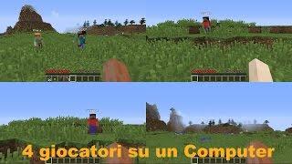 [Minecraft] Tutorial: 4 giocatori in UN Computer (Splitscreen PC)