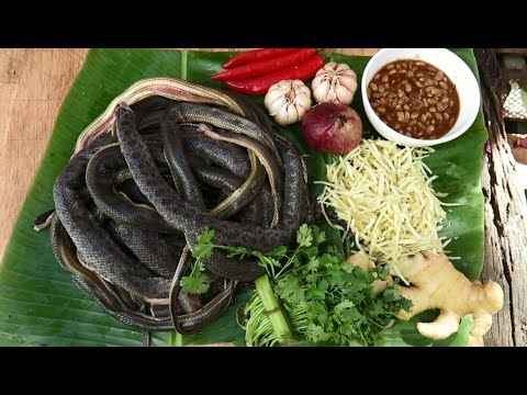 Cambodian Snake dishes | ginger and garlic snake meat stir ...