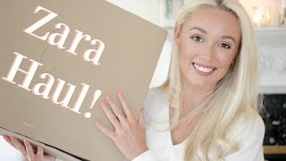 ZARA HAUL!    Spring 2017 Unboxing & Try On    |