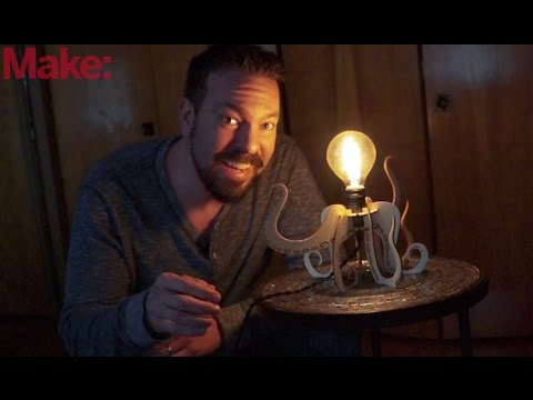 Laser Cut a Slot-Together Octopus Lamp