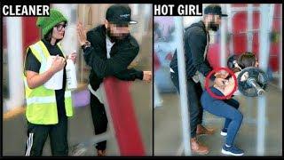 CLEANER vs HOT GIRL Picking Up Guys (SOCIAL EXPERIMENT) PT.2