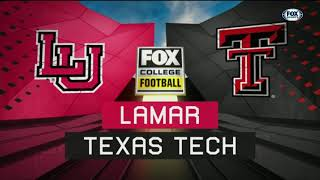 Texas Tech Football vs. Lamar: TV Highlights | 2018