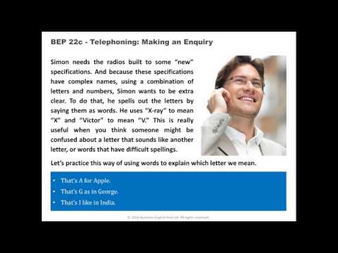 Telephoning: Make An Enquiry