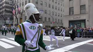 St. Patrick's Day Parade~2019~NYC~Jefferson Davis HS Marching Band~NYCParadelife