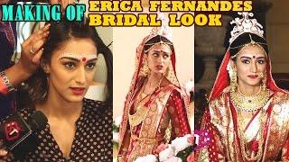 Sonakshi aka Erica Fernandes Bengali Bridal Hair & Make Up   Making   KRPKAB   Telly Reporter