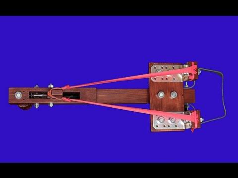 Homemade crossbow slingshot to shoot steel BB's
