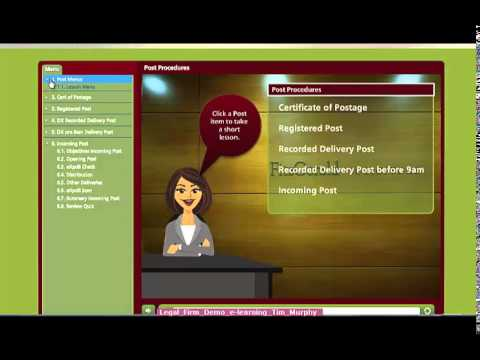 Legal Firm e-learning demo video