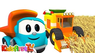 Kids cartoons. Leo the truck and Harvester. Car cartoon and animation like Tutitu style!
