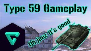 World of Tanks Blitz    Type 59 Gameplay: Oh jeez it's good