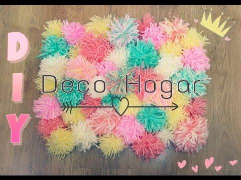 Alfombra de pompones deco hogar diy youtube - Alfombra de pompones ...