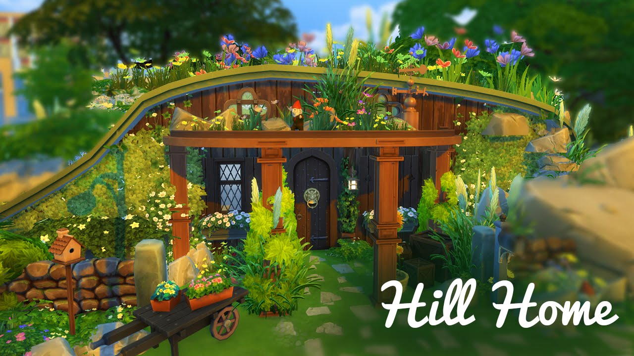 How To Build A Hobbit House Hobbit Hill House The Sims 4 Build Youtube