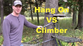 Public Land Hunting Lone Wolf Hand Climber Vs Hang On Tree Stand