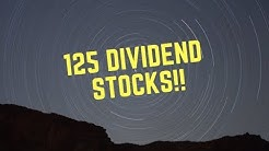 Daily Dividend Portfolio: From 27 Holdings to 125 in Two Days!!