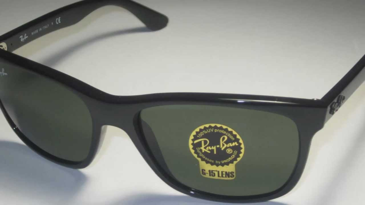 c2a5dc244b Ray Ban RB4181 601 Black Sunglasses - YouTube