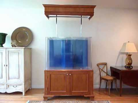 & Aquarium Fish Tank Canopy Hood Lift - YouTube