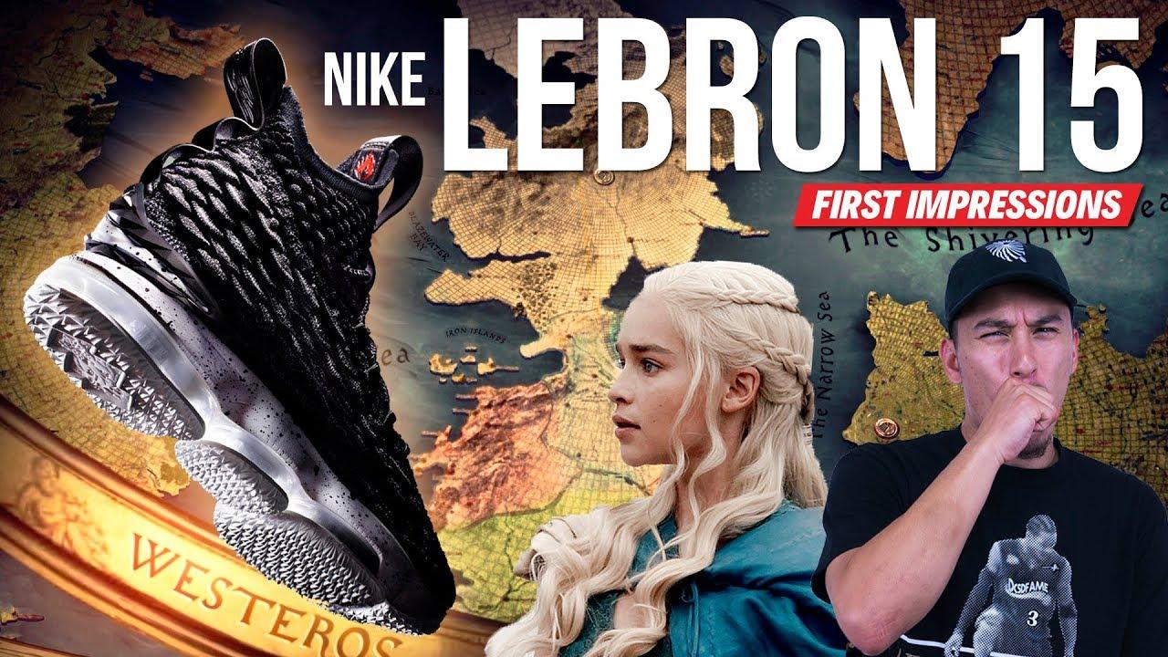 2c44da2d2ea NEW HEAT ALERT!!! Nike LeBron 15 First Impressions!!! - YouTube