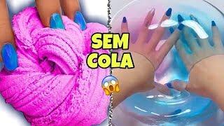 DIY SLIMES COM 1 INGREDIENTE E SEM COLA !💦 Testados!!   Michelle Almendra