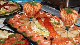 Праздничная нарезка рыбы к пиву карвинг№1