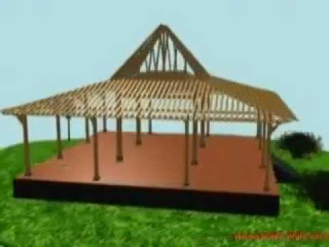 How to make joglo house construction design youtube - How to design a home ...