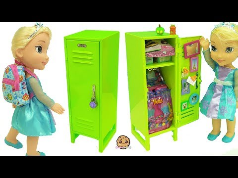 American Girl School Locker With Surprise Blind Bag Toys & Disney Frozen Queen Elsa Doll