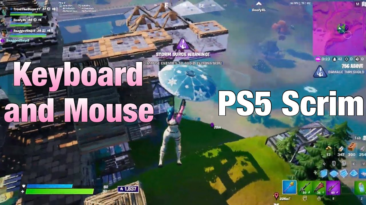 I Played a *120FPS PS5* Scrim on KEYBOARD and MOUSE - PS5 120FPS Keyboard and Mouse Gameplay