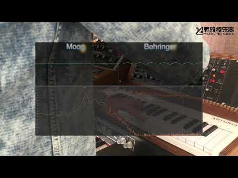Moog Model D对比Behringer Model D示波器音色对比演示/键盘中国论坛