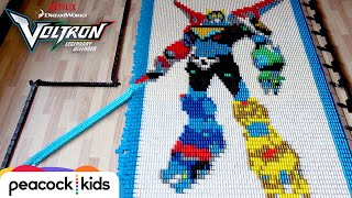 Voltron in 30,000 Dominoes | DREAMWORKS VOLTRON LEGENDARY DEFENDER