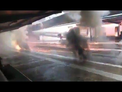 Incendi elèctric a l'estació de FGC de Sant Quirze del Vallès
